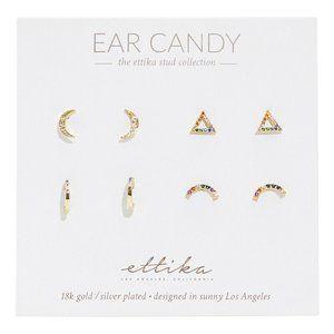 Ettika Ear Candy 4 Pair Earring Set